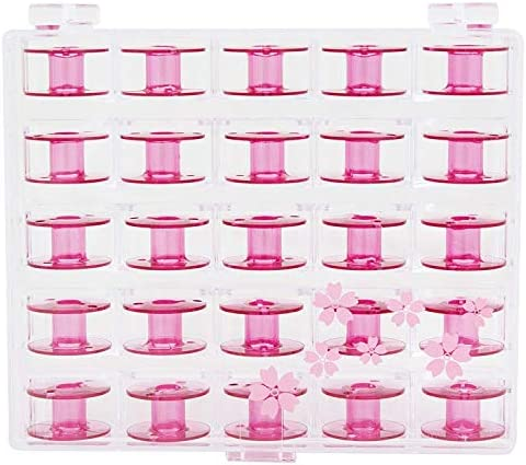 Janome Sewing Machine Cherry Blossom Pink Bobbins 25 ct