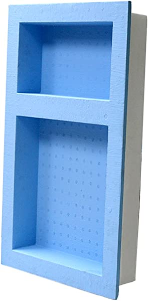 Double Recessed Shower Niche PROMOTOR Waterproof Ready For Tile Shampoo Shelf Bathroom Shelf Organizer Storage For Shampoo Toiletry Storage