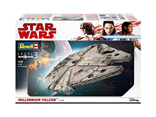 Revell 06718 Han Solo Modellbausatz Millennium Falcon, Mehrfarbig, 1:72 Scale