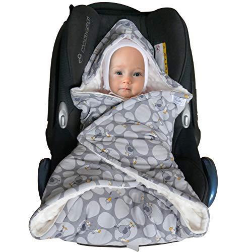SWADDYL Couverture bébé I siège auto I poussette I capuche I sac à bandoulière I nouveau-né I rembourrage minky et 100% coton I Made in Europe (Points)