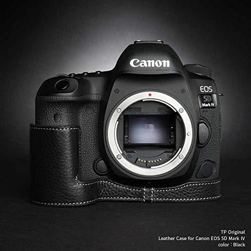 TP Original Leather Camera Body Case for Canon EOS 5D Mark IV Black ブラック キャノン キヤノン 本革 カメラケース レザーケース おしゃれ デジタル 一眼レフカメラ ケース 速写ケース