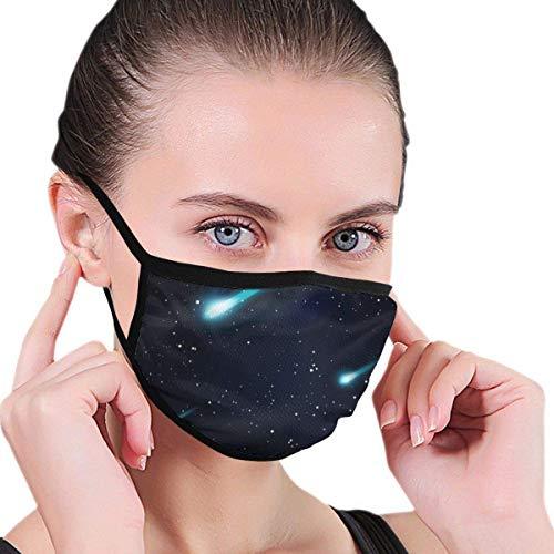 ASKYUN Masken Falling Stars Meteore oder Kometen Sternennacht SkyFace Maske Unisex für Männer Frauen