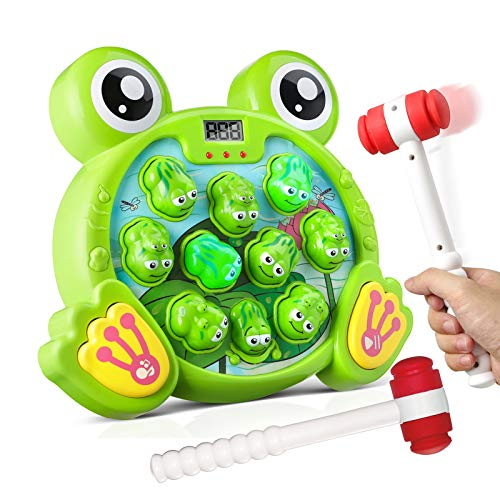 Bubuildup BBU05001 Whack a Frog Activity Game Early Development Toy with Light and Sound Baby Interactive Fun Toy Gift for Kids Age 3 4 5 6 7