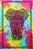 elefante Tamaño Gemelo Multi Color Tapices tapiz de pared colcha indias Sábanade playa Tapices de pared 100% algodón