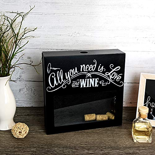 Colector de corcho decorativo para vino Colector de corcho con decoración de ventana de madera