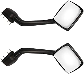 LEAVAN Truck Hood Mirrors Left and Right Pair Chrome Hood Mirrors for KENWORTH T680 (2013-2020) Peterbilt 579 (2010-2017) Peterbilt 587 (2010-2017)