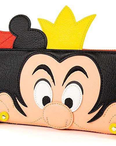 Loungefly x Alice in Wonderland Queen of Hearts Cosplay Zip-Around Wallet