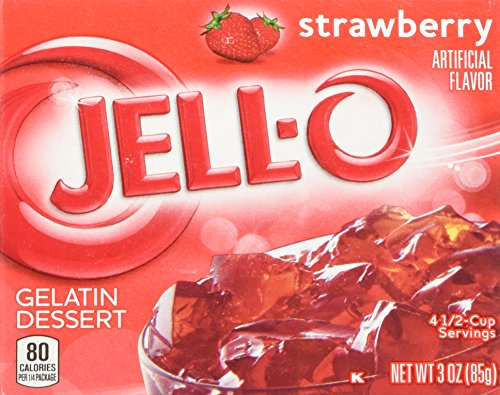 Strawberry Jell-O Gelatin, 3-Ounce Box (4-Pack)