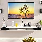 フローティングシェルフ壁掛けTVキャビネット、メディアコンソール、オープンシェルフ、衛星TVボックス、ケーブルボックス用/B / 130cm