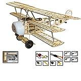 DW Hobby RC Avion Triplane Fokker DR.I Wingspan 770 mm en bois de balsa avec système d'alimentation S1704