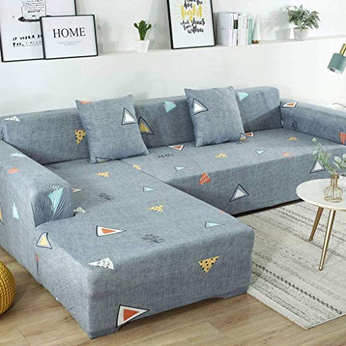 Jonist Funda de sofá Todo Incluido Elastic Force Four Seasons ensamblar sofá Muebles Escudo Acogedor Duradero-B-Individual 90~140cm