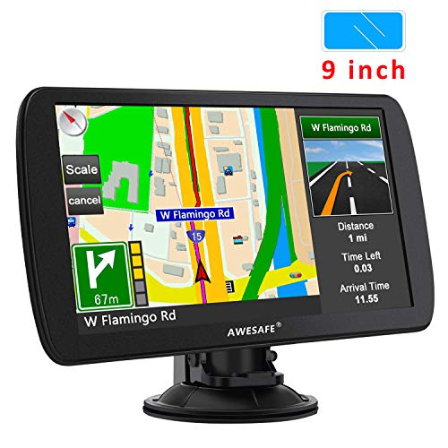 Sat Nav, Latest 9 inch GPS Navigation for Trucks Lorry HGV Caravan, Sat Navs for Cars UK Pedestrian Emergency Bus Taxi
