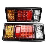 Qiilu Auto Blocchi fari posteriori, Luci di posizione posteriori a 2 LED da 2 LED 12V Luci di retromarcia a 40 LED per barche su camion rimorchio