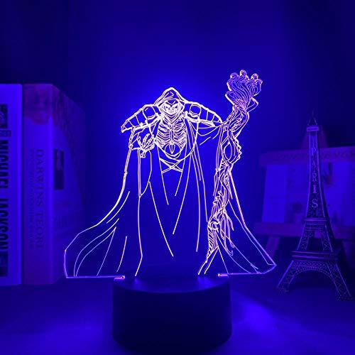 Lámpara 3D de ilusión de acrílico con luces LED nocturnas de campo de la Lustrous para habitación, decoración de mesita de noche para cumpleaños, regalo de cumpleaños
