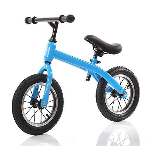 YJFENG Kinder Laufrad Lauflernhilfe Dreieckige Halterung Luftreifen Sitzhöhe Einstellbar Kohlenstoffstahl,3 Farben (Color : Blue, Size : 70x50cm)