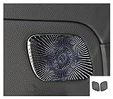 YINLONG Long Estilo de automóvil Altavoz de Audio Auto Puerta Altavoz Decoración Decoración Cubiertas Pegatinas Ajuste para Mercedes Benz A Clase W177 Accesorios Interior (Color Name : Orange)