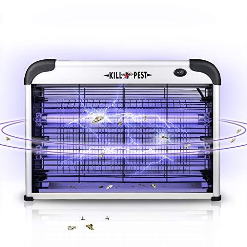 DANGZW Elektrischer Insektenvernichter, 20W Zuhause und Geschäft UV Moskito Killer Elektrische Mückenfalle Fliegenfalle Ausgestattet mit Wandkette für Innen Außen Mücken, Fliegen, Motten