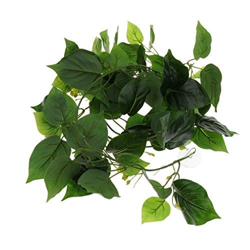 petsola Terrarium Pflanzen Künstlich Kletterpflanze Kunststoffpflanze Reben - Typ 1