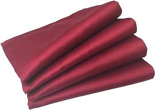 業務用ナフキン4枚セット 50cm×50cm サテン地綿100% 三巻縫製 (ワインレッド)