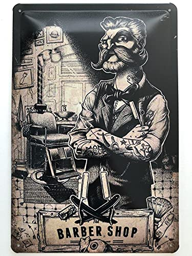 Cartel metálico de 20 x 30 cm, diseño de Barber Shop Shave and Cut