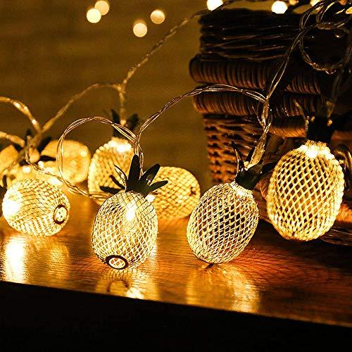 Led-slinger in de vorm van ananas-slinger, usb/batterij-accu voor ijzer, ledverlichting voor feesten en feestjes.