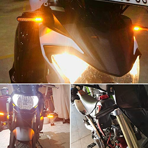 CCAUTOVIE Intermitentes Led Moto Universales Intermitentes Moto Homologados Luz Senal de Giro Indicator Faros Ambar E24, 2 Piezas
