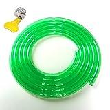 Manguera de Agua de Jardín de PVC Jardinería Flexible Buen Material Antienvejecedor Suave, Verde Claro 16x21mm