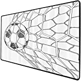 Mouse Pad Gaming Funcional Conjunto de deportes Alfombrilla de ratón gruesa impermeable para escritorio Balón de fútbol en posición Goaly neta Competición deportiva Espectadores Estilos dibujados a ma