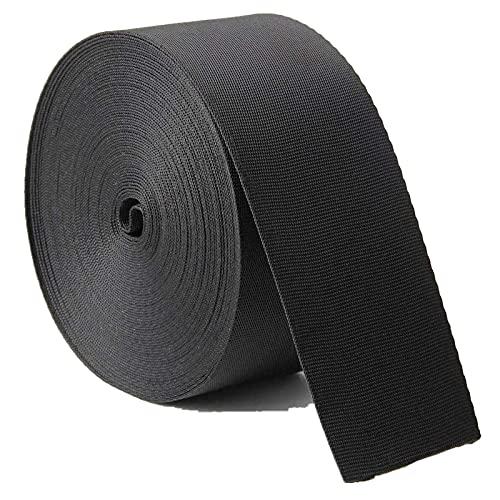 DTKJ 10 yardas de diferentes tamaños de nailon negro resistente para hamaca, escalada en roca al aire libre y hacer maletas, collares de mascotas correas de hombro mochila reparación