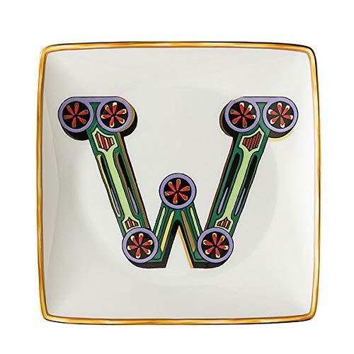 Versace by Rosenthal - Schale, Teller, Schälchen - Holiday Alphabet - W - 12 x 12 cm - Porzellan