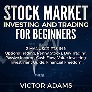 Stock Market Investing and Trading for Beginners (2 Manuscripts in 1) audiobook cover art