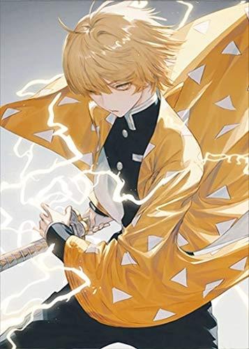 Japonais Anime Katana épée garçon peinture à l'huile salle familiale salon chambre décoration Anime ventilateur peinture à l'huile décoration (image 1)