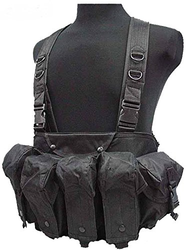 DLP Tactical Intruder Universal Chest Rig with 308/223 Magazine Pouches (Black)