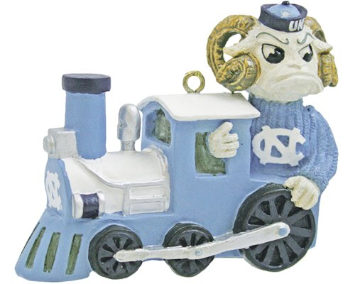 NCAA North Carolina Tar Heels Mascot Train Ornament