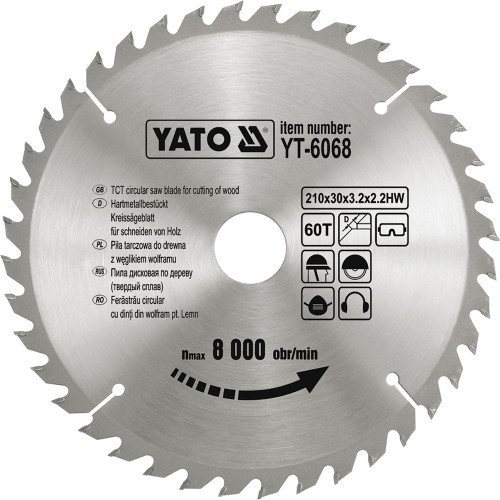 YATO YT-6061-TCT lame bois 184 x 40 x 30 mm