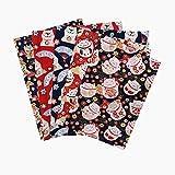 Suppemie 5PCS Tela De Algodón con Estampados Florales para Manualidades Tela De Algodón Lisa para Costura Manualidades Accesorios Hechos A Mano