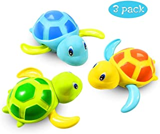 Baby Bath Toys Clockwork Turtle For Toddlers Boys Girls,Wind up Water Toys Swimming Turtle Summer Pool Bathroom Float Toy ...
