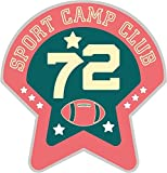 72 American Football Rugby Sport Camp Club Badge Vinyl Decal Bumper Sticker/Autocollant