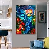 KWzEQ Carteles de impresión en Color de Alta definición y Pinturas Decorativas Impresas por Pinturas al óleo budistas de Jehová,Pintura sin Marco,30x45cm