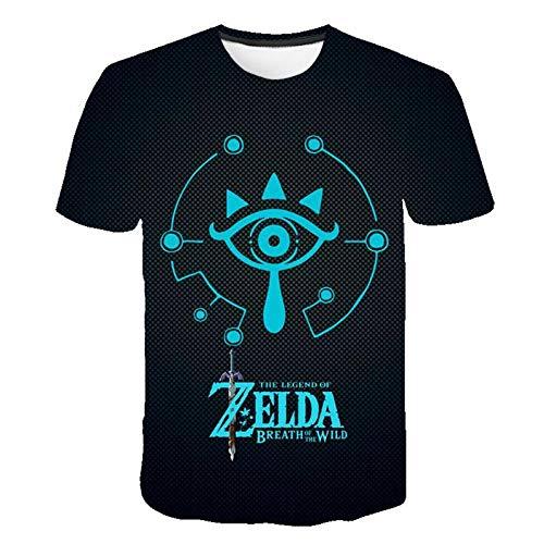 Unisex Sommer T-Shirt 3D-Digitaldruck Die Legende der Zelda-Serie Muster lässig Männer und Frauen Kurze Ärmel-S_S.