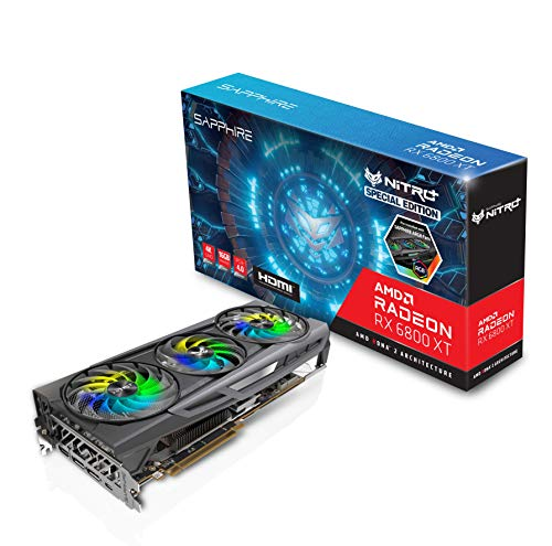 Sapphire 11304-01-20G Nitro+ AMD Radeon RX 6800 XT SE PCIe 4.0 Gaming Grafikkarte mit 16GB GDDR6