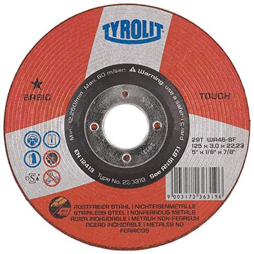 TYROLIT 236319 Schleifscheibe Basic Touch 2in1 Form 29T, 125 x 3 mm, 1 Stück