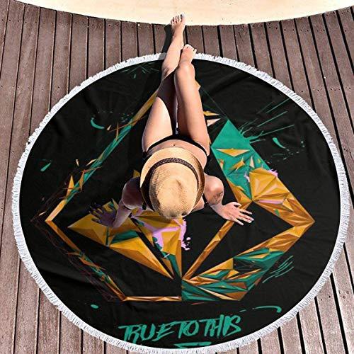 Olie Cam Fiel a la Alfombra Redonda de Volcoms Ramadan Festival, Toalla de Playa Redonda para decoración del hogar