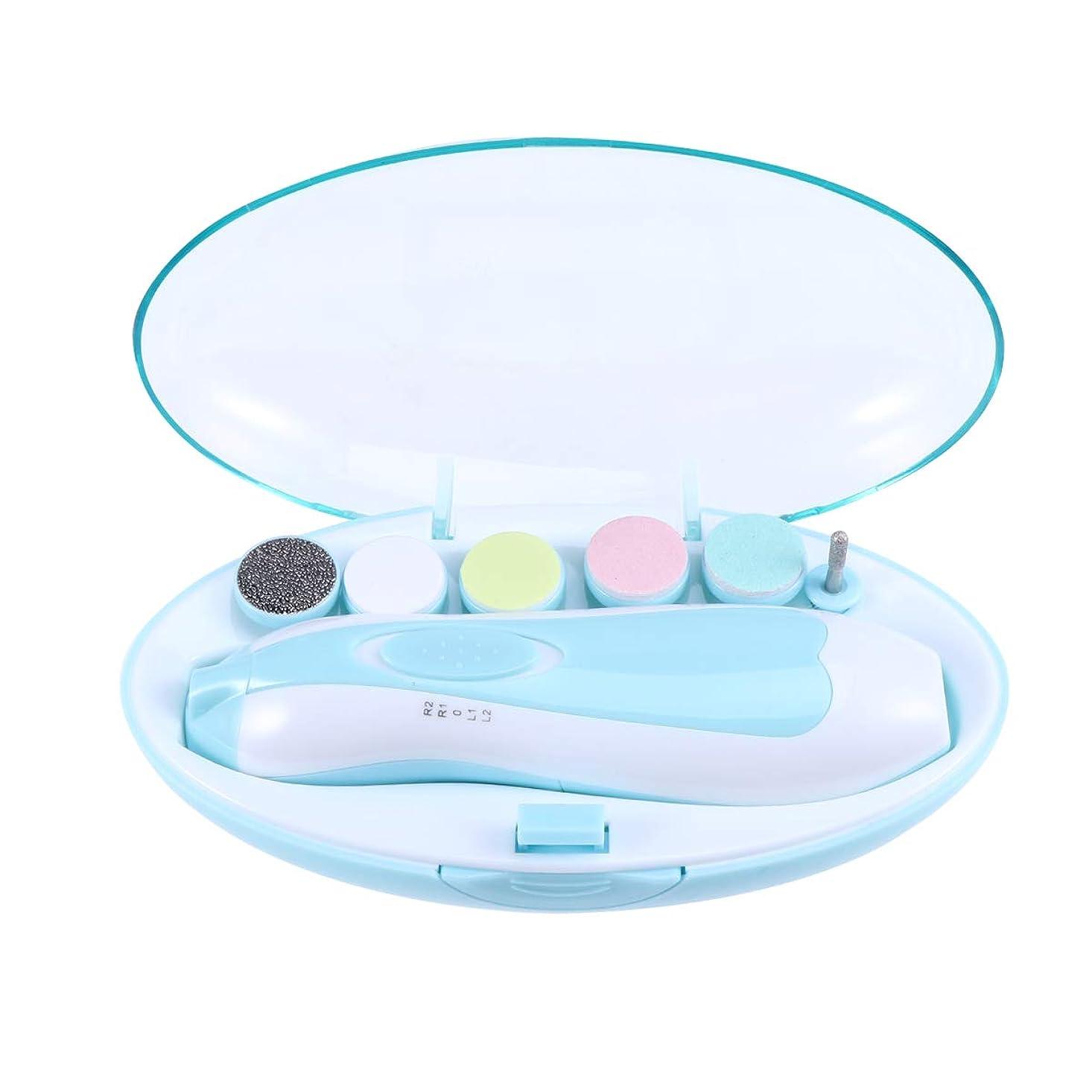 先住民思想変えるSUPVOX 赤ん坊の釘ファイル電気赤ん坊の釘のトリマーの幼児/幼児/子供のための多機能のネイルポリッシャー