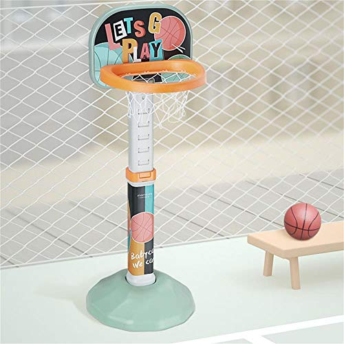 XINGLIAN Kind Baby Basketballkorb Indoor Kinder Basketball-Ständer 2 Farben Wahlweise Freigestellt Höhenverstellbar 75-115 cm (Color : Green)