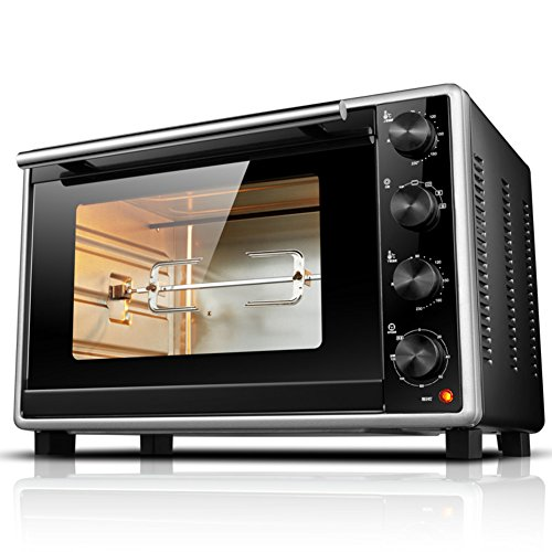 DULPLAY Toaster Oven,Best Convection,Mini,33l Large Capacity,Digital Dining,Countertop Oven Black Digital Polished Stainless Toast Home Kitchen -Black 51x31x34cm(20x12x13inch)