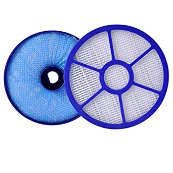KEEPOW Pre And Post Motor HEPA Filter Replacement Compatible with Dyson DC33 Multi Floor Vacuum Part 919563-02 921616-01 Washable Reusable