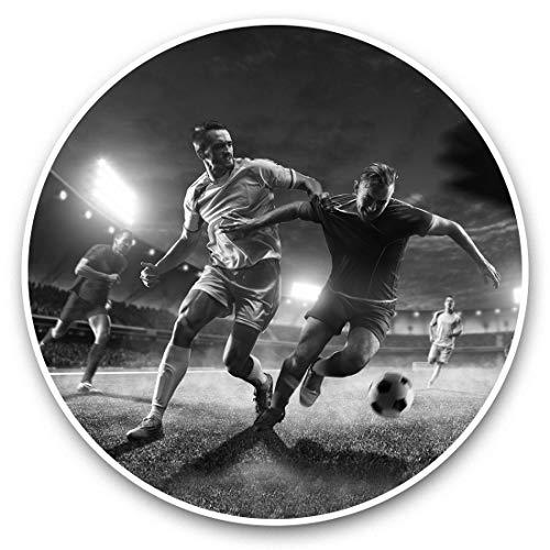 Impresionantes pegatinas de vinilo (juego de 2) 25 cm bw – Juego de pegatinas divertidas para jugadores de fútbol profesionales para portátiles, tabletas, equipaje, reserva de chatarras, neveras, regalo fresco #42886