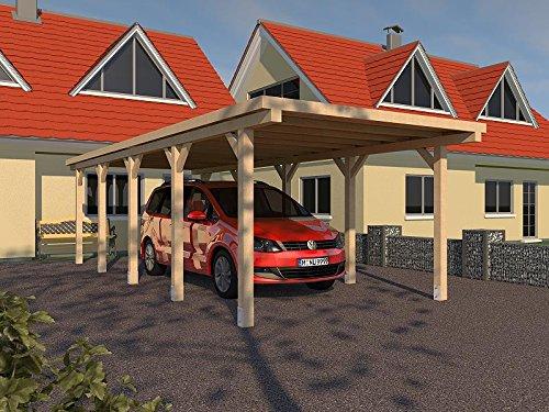PRIKKER-Carport Carport Flachdach MONTREAL XXIII 300 x 800 cm Leimbinder Fichte Bausatz