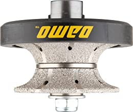 DAMO V30 1-1/4 inch Full Bullnose Diamond Hand Profiler Router Bit Profile Wheel with..